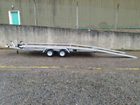 Car transporter recovery 2700kg trailer 4.5m x 2.10m 14ft x 6ft JUPITER wheel 10