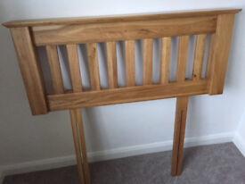 Solid Oak bed headboard