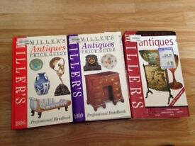 Miller`s Antiques Price Guide 3 books in v good condition