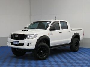 2012 Toyota Hilux KUN26R MY12 SR (4x4) White 5 Speed Manual Dual Cab Chassis East Rockingham Rockingham Area Preview