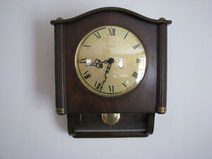 "ANTIQUE HORLOGE ""MAUTHE"" GERMANY COMME NEUVE WALL CLOCK WIND-UP"