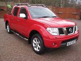 2007 57 Nissan Navara 2.5dCi Aventura Gleaming Red NO VAT!