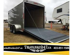 New  Look Vision 7ft x 14ft Tandem axle cargo trailer - Tax In $