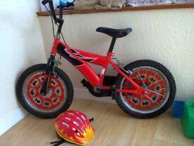 Boys style red Power Rangers pedal bike