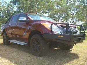 2012 Mazda BT-50 UP0YF1 GT Red 6 Speed Manual Utility Winnellie Darwin City Preview