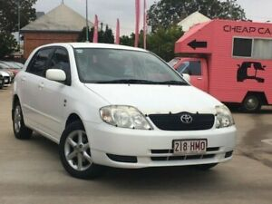 2003 Toyota Corolla ZZE122R Conquest White 5 Speed Manual Hatchback South Toowoomba Toowoomba City Preview