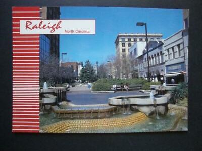 566) RALEIGH NORTH CAROLINA FAYETTEVILLE ST MALL FOUNTAINS CIVIC CENTER (Mall North Carolina)