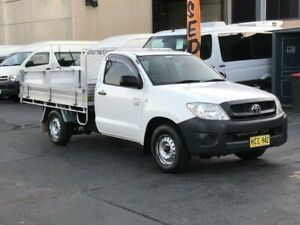 2010 Toyota Hilux TGN16R 09 Upgrade Workmate White 4 Speed Automatic Cab Chassis Revesby Bankstown Area Preview