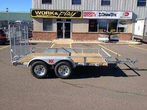 "NEW 2018 K-TRAIL 72"" x 12' GALVANIZED UTILITY TRAILER"