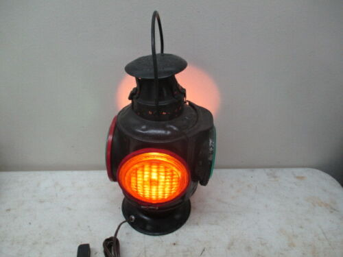 Adlake 4 Way Non Sweating Railroad Lantern- Electrified Lamp
