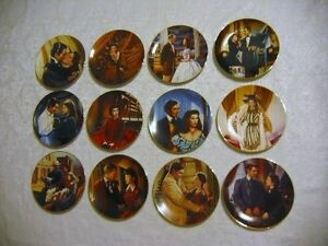 REDUCED - Set of 12 Gone With the Wind Plates -
