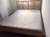 Ikea King bed and mattress for 50 pounds - MUST GO THIS WEEKEND!
