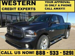 2017 Ram 1500 Sport Crew 4x4 ~ Hemi ~ 8 Speed ~ Easy Financing!