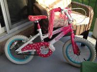 vélo pour fille 14 pouces 1 été d'usure