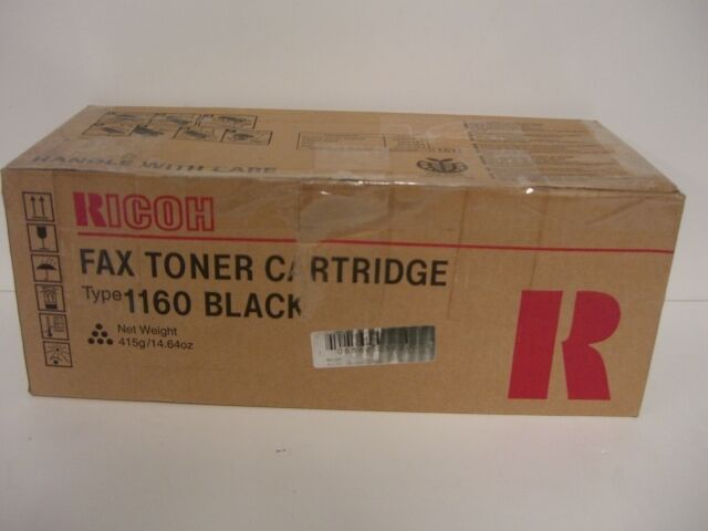 RICOH H192-01,  Fax Toner Cartridge,  Type 1160,  Black,