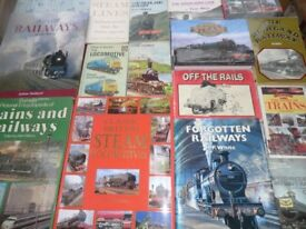 A nice collection of Railway themed books, both hardback and paperback