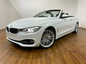 2014 BMW 420d F33 Luxury Line White 8 Speed Automatic Convertible Kingsgrove Canterbury Area Preview