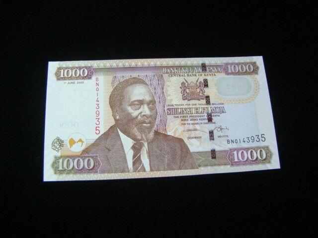 Kenya 2005 1000 Shillings Banknote Gem Uncirculated Pick #51a
