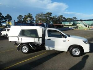 2014 Toyota Hilux TGN16R MY12 Workmate White 4 Speed Automatic Cab Chassis Homebush West Strathfield Area Preview