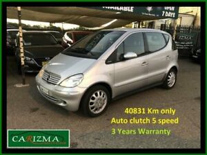 2002 Mercedes-Benz A160 W168 Elegance Silver 5 Speed Sequential Manual Hatchback Seven Hills Blacktown Area Preview