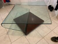 Glass '?' shape Coffee Table