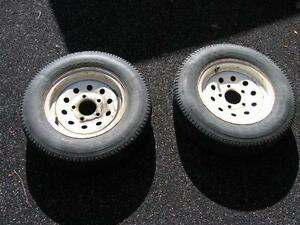 155r12 tires mounted on 5 hole trailer rims