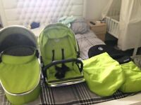 Lime hater max carrycot and upper seat