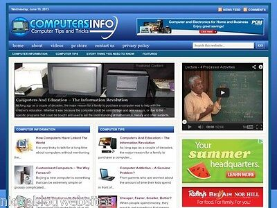 Hot Computer Info   Pc Education Tips Niche Blog Website For Sale