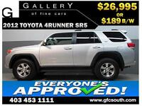 2012 TOYOTA 4RUNNER SR5 4WD *EVERYONE APPROVED* $0 DOWN $189/BW!