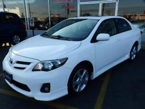 2013 Toyota Corolla S LEATHER ROOF PUSH BUTTON START LOW KM
