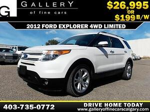 2012 Ford Explorer Limited 4X4 $199 bi-weekl APPLY NOW DRIVE NOW