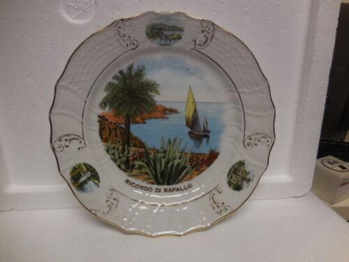 Vintage  Porcellana ,souvenir wall plate Original Made in Italy- Rapallo-Liguria