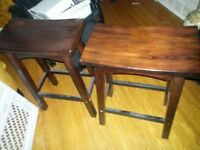 Asian Style Wooden Bar Stools