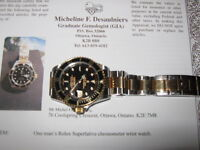 ROLEX SUBMARINER  MODEL  16613 TWO- TONE 18KT GOLD.