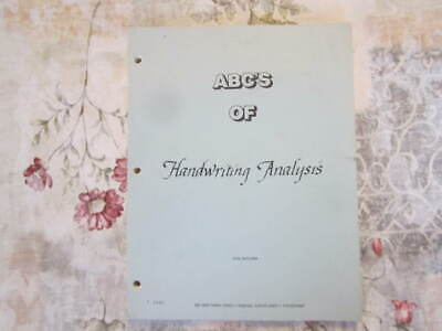 ABC's of Handwriting Analysis, Graphology, Occult, Symbolism, 1985, Scarce, 4to