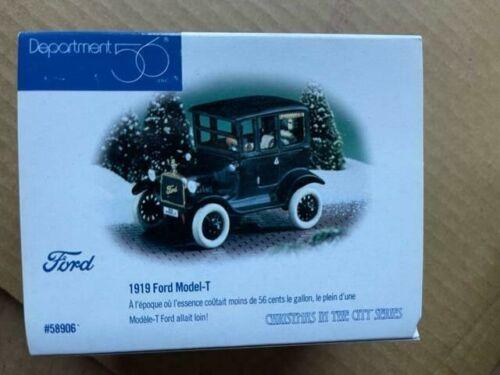 DEPT 56 SNOW VILLAGE Accessory 1919 FORD MODEL T NIB