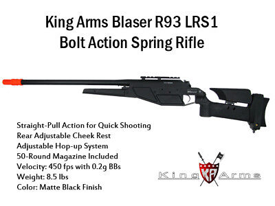 King Arms GEN 1 Blaser R93 LSR1 Airsoft Bolt Action Spring Sniper (King Arms Spring)