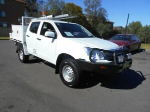 2015 Isuzu D-MAX TF MY15 SX (4x4) White 5 Speed Manual Crew Cab Chassis Bankstown Bankstown Area Preview