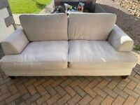 Cream 3 Seater and 2 Seater Sofas