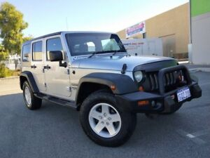 2007 Jeep Wrangler Unlimited JK Sport (4x4) Silver 4 Speed Automatic Softtop