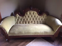 Antique Couches and Coffee Table for Sale