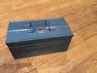 Steel expanding toolbox, heavy duty, three tier