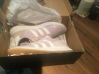 Adidas Originals Flashback Shoes in pink UK size 7.