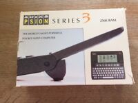 Psion Series 3 hand held computer plus Spreadsheet software, new in boxes