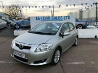 TOYOTA AURIS 1.6 TR VVT-I 5d 122 BHP PRICED TO SELL (silver) 2007
