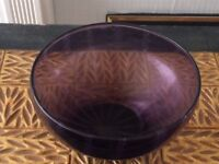 Glass and Ceramic Bowls (x2) Purples/Pinks