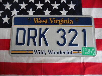 US WEST VIRGINIA DRK 321 WILD AUTO CAR KENNZEICHEN NUMMERNSCHILD PLATE TAG USA I