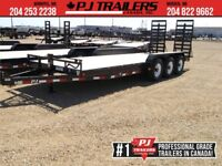 "2019 PJ Trailers 24' x 6"" Channel Equipment Trailer, 14 (CCT) Winnipeg Manitoba Preview"