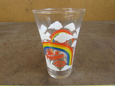 Dr Pepper Be A Pepper Rainbow Vintage Drinking Glass 14 Ounces