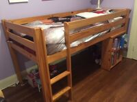 Kids solid pine bed with mattress